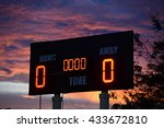 scoreboard with home and guests ... | Shutterstock . vector #433672810
