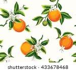 Seamless Pattern With Orange...