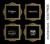 exclusive decor elements or...   Shutterstock .eps vector #433679830