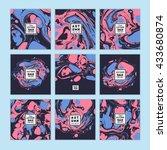vector set of  watercolor hand... | Shutterstock .eps vector #433680874