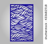 abstract cutout panel for laser ... | Shutterstock .eps vector #433682518