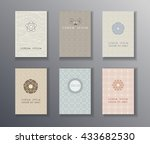 logo design  pages templates... | Shutterstock .eps vector #433682530