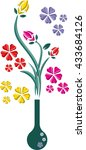 isolated flowers in a vase | Shutterstock .eps vector #433684126
