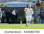 Small photo of BELO HORIZONTE, BRAZIL - June 24, 2014: Luke SHAW during the FIFA 2014 World Cup. Costa Rica is facing England in the Group D at Minerao Stadium