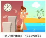 funny cartoon character. office ... | Shutterstock .eps vector #433690588