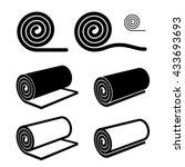roll of anything black symbol... | Shutterstock .eps vector #433693693
