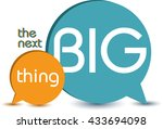 the next big thing. quote ... | Shutterstock .eps vector #433694098