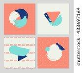 hand drawn brush hipster... | Shutterstock .eps vector #433697164