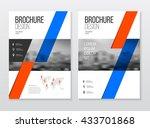 abstract business flyer design... | Shutterstock .eps vector #433701868