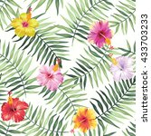 tropical seamless pattern with... | Shutterstock .eps vector #433703233