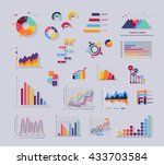 data tools finance diagram and... | Shutterstock . vector #433703584
