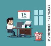 deadline design concept... | Shutterstock . vector #433703698