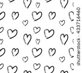 heart seamless pattern.... | Shutterstock .eps vector #433716460