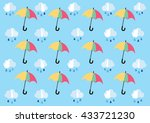 pattern of cloud and raindrop... | Shutterstock .eps vector #433721230
