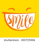 yellow positive thinking  smile ... | Shutterstock .eps vector #433725406