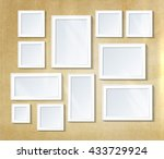 decorative collage photo frames. | Shutterstock .eps vector #433729924
