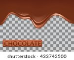 melted chocolate dripping... | Shutterstock .eps vector #433742500