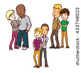 gay couple set. hand drawn... | Shutterstock .eps vector #433748023