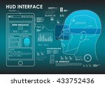 set of hud elements for virtual ... | Shutterstock .eps vector #433752436