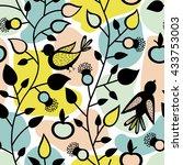 vector seamless pattern. summer ... | Shutterstock .eps vector #433753003