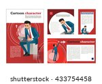 businessman. cartoon character. ... | Shutterstock .eps vector #433754458