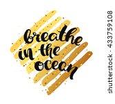 trendy hand lettering poster.... | Shutterstock . vector #433759108