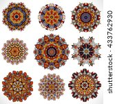 mandala. vintage decorative... | Shutterstock . vector #433762930