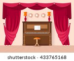 design music room with a piano... | Shutterstock .eps vector #433765168