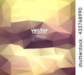 vector abstract geometric... | Shutterstock .eps vector #433768990
