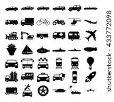 transport icons. concept... | Shutterstock . vector #433772098