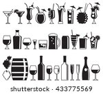 set of thirty one alcohol drink ... | Shutterstock .eps vector #433775569