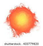isolated orange hand drawn sun... | Shutterstock . vector #433779820