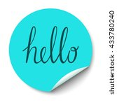 vector circle sticker with... | Shutterstock .eps vector #433780240