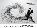 silhouette of a football player ... | Shutterstock .eps vector #433780504