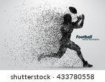 silhouette of a football player ... | Shutterstock .eps vector #433780558