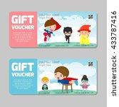 voucher  gift voucher kids ... | Shutterstock .eps vector #433787416
