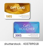 design gold gift card  and the... | Shutterstock .eps vector #433789018