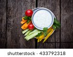 fresh vegetables stick and... | Shutterstock . vector #433792318