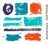set of abstract color elements. ... | Shutterstock .eps vector #433793548