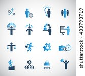 human resources icon set.   Shutterstock .eps vector #433793719