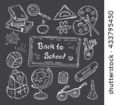 back to school hand drawn... | Shutterstock .eps vector #433795450