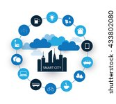 smart city design concept with...   Shutterstock .eps vector #433802080