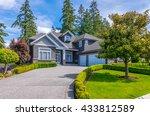 big custom made luxury house... | Shutterstock . vector #433812589