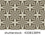 ornament with gray and brown... | Shutterstock . vector #433813894