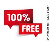 100 percent free label | Shutterstock .eps vector #433814254