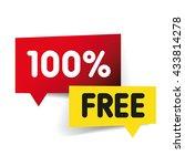 100 percent free label | Shutterstock .eps vector #433814278