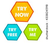 try now  try free  try me  ... | Shutterstock .eps vector #433824598