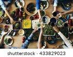 buffet eating choice dining... | Shutterstock . vector #433829023