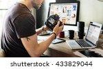 photographer photograph photo... | Shutterstock . vector #433829044