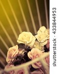 beautiful flowers.vintage or... | Shutterstock . vector #433844953